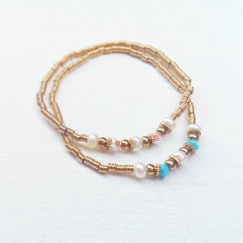 <Paranoid> Two colors brass bracelet