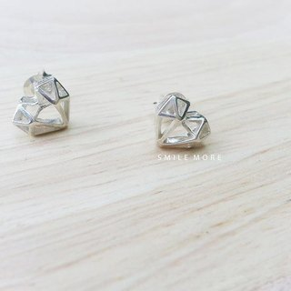 Silver earrings Little Love