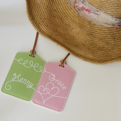 Baggage tag - Customized English surname Valentine's Day / wedding gift