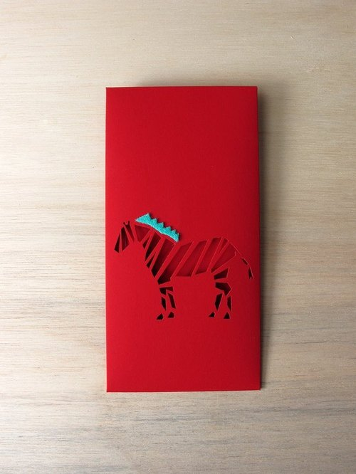 Chinese New Year red envelopes _ small horse: 2 into