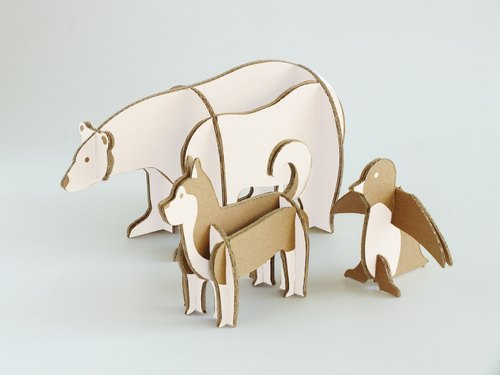DIY three-dimensional animal park. - Children's Day gift buy one get paternity storybook environmental initial offer....
