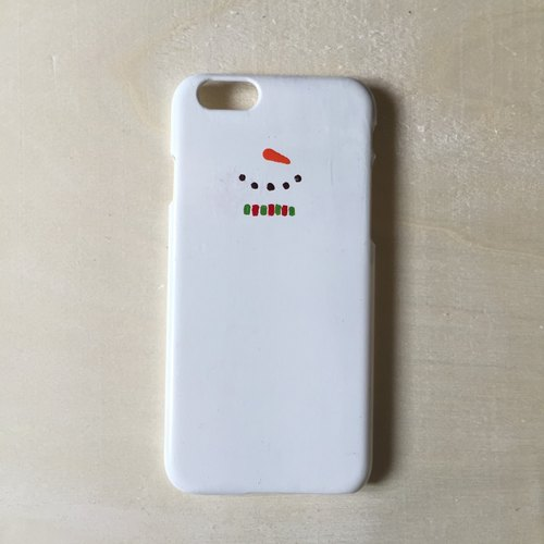 [Hand-painted Mobile Shell smartphone case: Christmas snowman Christmas Snowman: hand-painted Hand-painted]