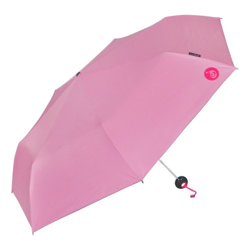 Ultralight hands folded open umbrella - Pink