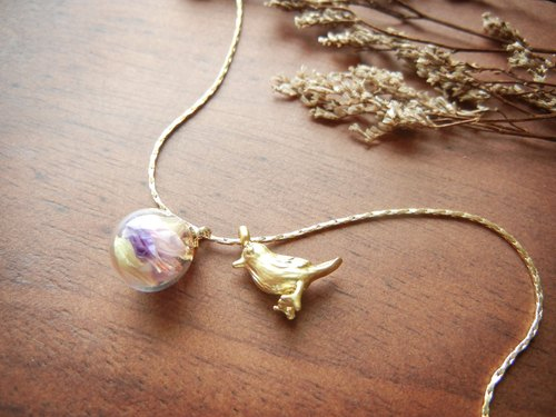 * Coucoubird * pink yellow purple glass Xiaoque / chains