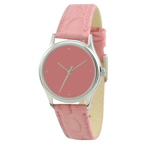 Ladies Simple Watch (Silver / Pink)