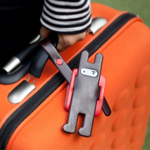 Dessin x Jstory- ninja rabbit back backpack leather luggage tag - Coco Rabbit, JST16574