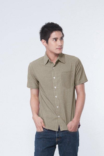 iinpress tip pocket shirt (light khaki)
