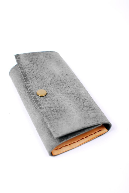 Moo. . Key clip swimming / vegetable tanned handmade Wallets