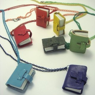 Rainbow PDA :: mini leather notebook necklace