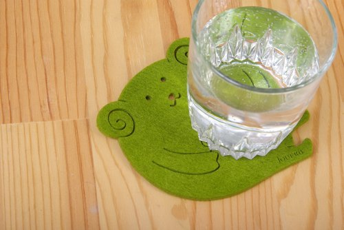 Bang Bang baa biscuits coaster - green grass