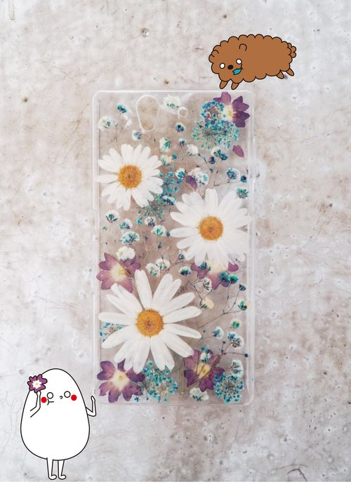 Iger design ◆ hand made pressed flower phone shell _ autumn