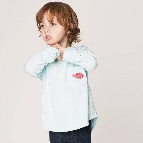 [Design] Nordic whale sleeved T-shirt organic cotton for 2Y-9Y_ Sweden _ Kids Shampoodle