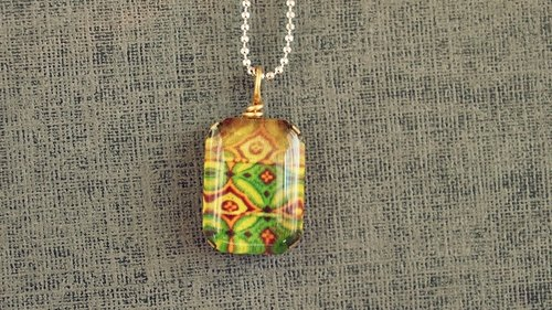 OldNew Lady customized gifts § Glue series §- mini-videos pop style necklace [green]