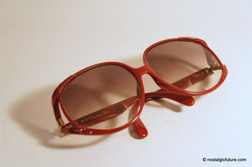 Vintage Christian Dior red frame sunglasses made in Germany Made in Germany