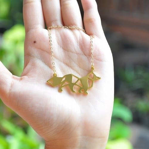 Glorikami Fox Origami Necklace