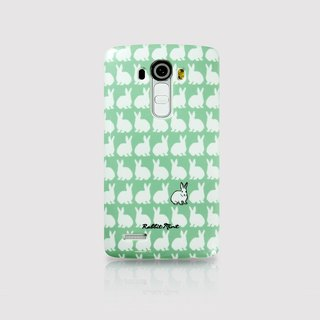 (Rabbit Mint) Mint Rabbit Phone Case - Little Rabbit Pattern Series - LG G4 (P00066)