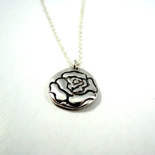 Rose sterling silver necklace / clavicle chain / gift / anniversary / Valentine