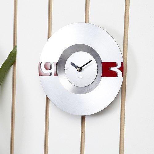 Swap時計系列(銀色鐘面)時尚時鐘