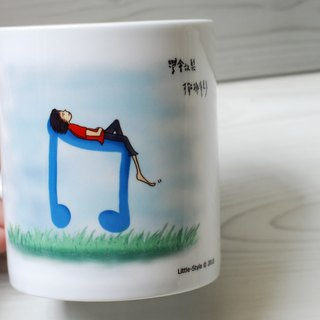 [Bone china mug] relax (Custom)