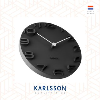 荷蘭Karlsson Wall clock On The Edge black w. chrome hands 荷蘭Karlsson OTE 掛鐘