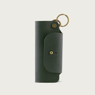 Leather Key Case/Key Ring - Forest Green