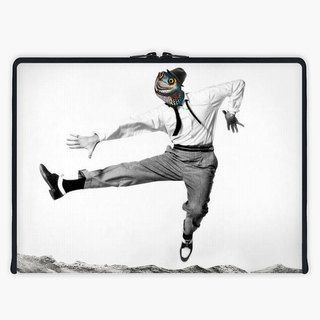 Axis - Custom 3-Sided Zipper Laptop Sleeve - dance like no one's looking