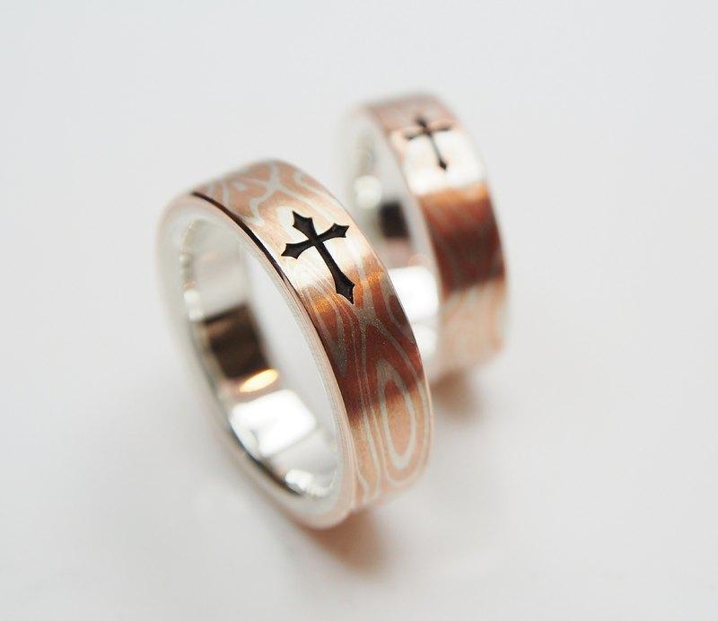 銀銅 木目金 戒指 木紋金 (單枚價 / 可另訂對戒)