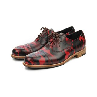 Spurge Laurel M1124 Burgundy leather oxford shoes
