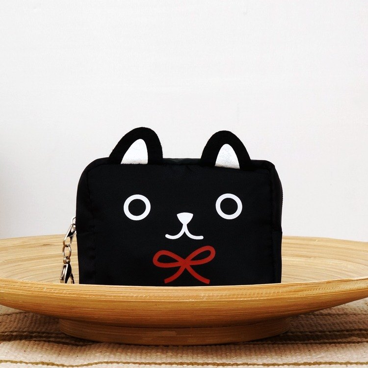 Wind Kitty Shopping Bag   Black (with Zipper Storage Bag) Bag Paper Bag Bags