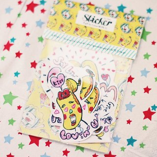 Fall in love with u! Mr. banana sticker pack Bachelors At War