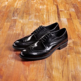 Vanger elegant beauty ‧ modern British Shi Brock engraved shoes Va137 Shen Shi black