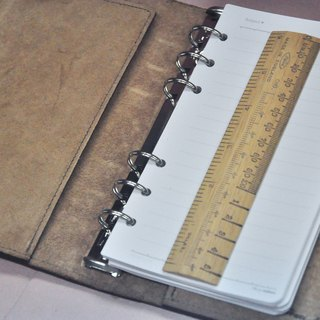 Cycle Life Series: Brown and black leather 6 holes B6 loose-leaf notebook
