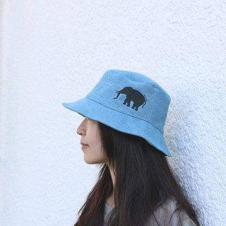 MaryWil Bucket Hat-Denim Elephant