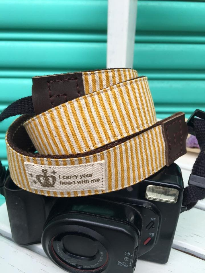 ﹝ Clare cloth hand as ﹞ grocery wind yellow streak camera strap