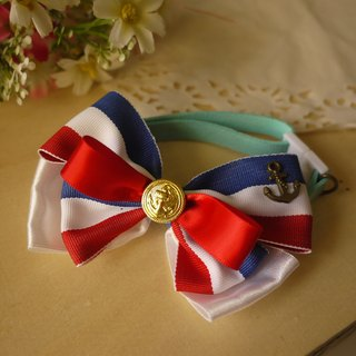 Safe hands as cats and dogs pet collar / Collar / fine ribbon bow tie retro British small wind / wind Navy cherry pudding Cherry Pudding ♥ ♥