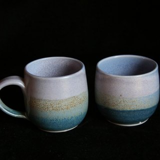 Individual cups water blue group # 3103 # 3104