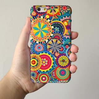 Mandala Colourful Floral pattern 3D Full Wrap Phone Case, available for  iPhone 7, iPhone 7 Plus, iPhone 6s, iPhone 6s Plus, iPhone 5/5s, iPhone 5c, iPhone 4/4s, Samsung Galaxy S7, S7 Edge, S6 Edge Plus, S6, S6 Edge, S5 S4 S3  Samsung Galaxy Note 5, Note 4