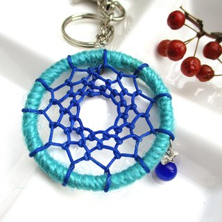 Small kite - Dream catcher key ring - turquoise blue