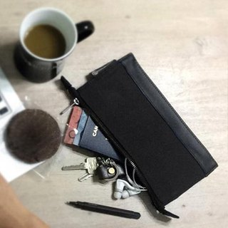 Waxed Canvas Travel Pouch - Black