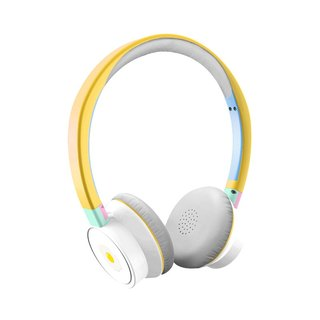 BRIGHT custom wireless headphones poached egg built-in microphone