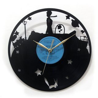 [Time traveler 1888] vinyl clock. Little Leaves [Le Petit Prince]