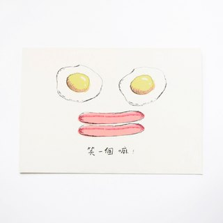 Breakfast Collection-Egg postcard / buy 3 get 1