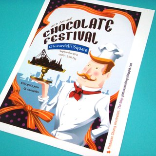 【Pin】Chocolate Festival Event Poster│Print│Postcard
