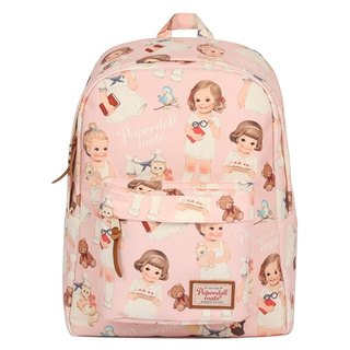 [She] Korean cattle after a water Afrocat paper doll mate backpack <Pink> Vintage doll waterproof backpack