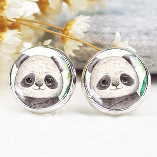 Smiling panda - ear clip earrings earrings ︱ ︱ ︱ little face modified fashion accessories birthday gift