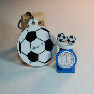+ Football football keychain earring / engraved name / Day