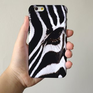 Zebra Pattern 3D Full Wrap Phone Case, available for  iPhone 7, iPhone 7 Plus, iPhone 6s, iPhone 6s Plus, iPhone 5/5s, iPhone 5c, iPhone 4/4s, Samsung Galaxy S7, S7 Edge, S6 Edge Plus, S6, S6 Edge, S5 S4 S3  Samsung Galaxy Note 5, Note 4, Note 3,  Note 2