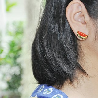 Glorikami Red Water melon earrings