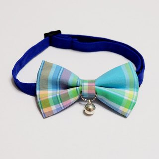 [Miya ko.] Handmade cloth grocery cats and dogs tie / tweeted / bow / handsome plaid / pet collars