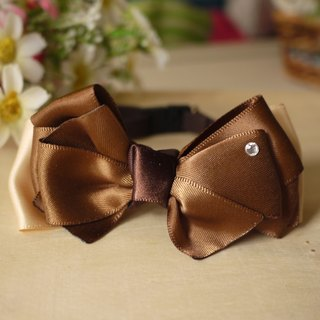 Security pet cats and dogs collar x mature coffee / Collar / tie / Jojo ♥ cherry pudding Cherry Pudding ♥